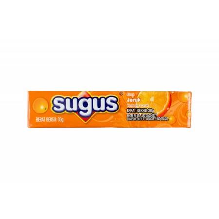 Permen kunyah yang lunak dengan rasa jeruk yang manis, memberikan sensasi mengunyah yang menyegarkan dan cocok untuk mengusir kebosanan.