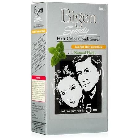 "Bigen speedy Hair Color Conditioner yang dikenal dengan sebutan ""BIGEN SPEEDY"" adalah pewarna rambut yang paling terkenal dan populer diantara bapak-bapak dan ibu-ibu di benua Asia. BIGEN SPEEDY mengatasi masalah Uban dengan cepat. Cukup dengan menyisir r"