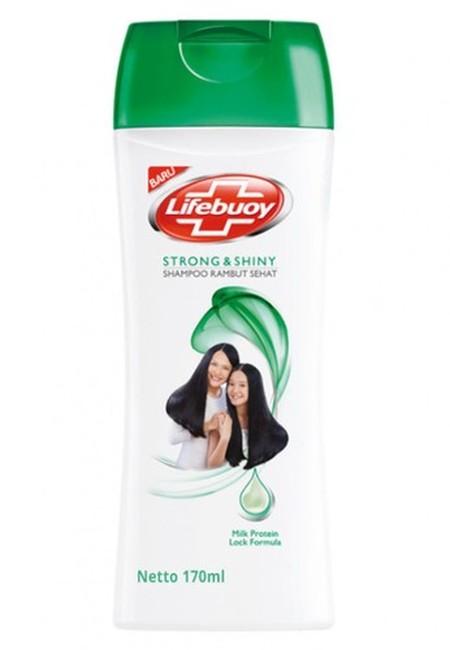 Lifebuoy Shampoo Strong & Shiny-Shampo Lifebuoy Strong & Shiny mampu merawat rambut agar senantiasa sehat dan menjadikannya 10x lebih kuat dari rambut patah*