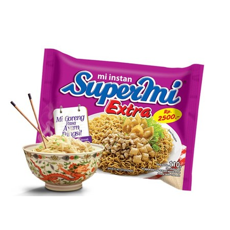 Sebagai Pionir Mi Instan Di Indonesia, Supermi Tak Berhenti Berinovasi. Dengan Mengeluarkan Varian Terbaru Supermi Goreng Extra Rasa Ayam Pangsit. Tekstur Mi Yang Kenyal Dan Bumbu Gurih Khas Supermi, Mi Dengan Bumbu Ayam Pangsit Yang Nikmat Ini Siap Menja