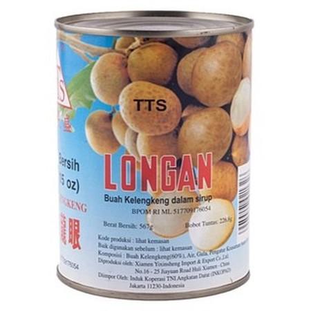 TTS Longan 567gr merupakan buah kelengkeng dalam sirup gula yang siap disajikan. Dapat diolah bersama sirup ataupun kue buatan rumah. Kemasan kalengnya membuat buah kelengkeng di dalamnya tetap terjaga kualitas dan kebersihannya