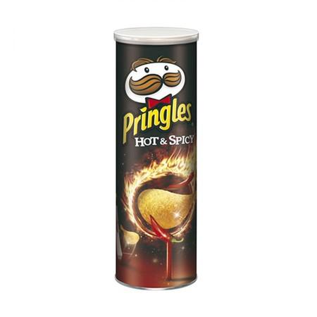 Merupakan keripik kentang yang terbuat dari kentang asli. Selain renyah dan nikmat untuk dikonsumsi, Pringles juga mengandung sumber protein, energi, dan karbohidrat bagi tubuh Anda