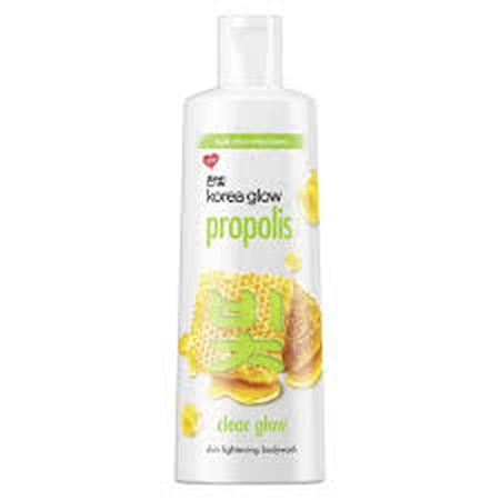 BARU dari Korea Glow! Body wash dengan kandungan ekstrak lebah, Propolis, yang terkenal untuk mencerahkan kulit secara alami. Propolis tinggi dengan kandungan vitamin E, akan membuat kulit tetap cerah, lembut secara alami, sehingga memberikanmu kulit choc
