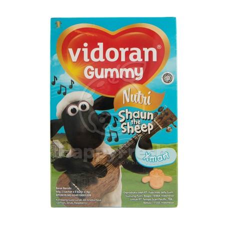 Vidoran Gummy Xmart Nutri Multivitamin Anak [20 g/3 packs] merupakan permen bernutrisi dalam bentuk gummy menarik yang dapat membantuk meningkatkan kebutuhan tubuh si kecil dengan mengonsumsi Vidoran Gummy Multivitamin secara rutin. Mengandung semua manfa
