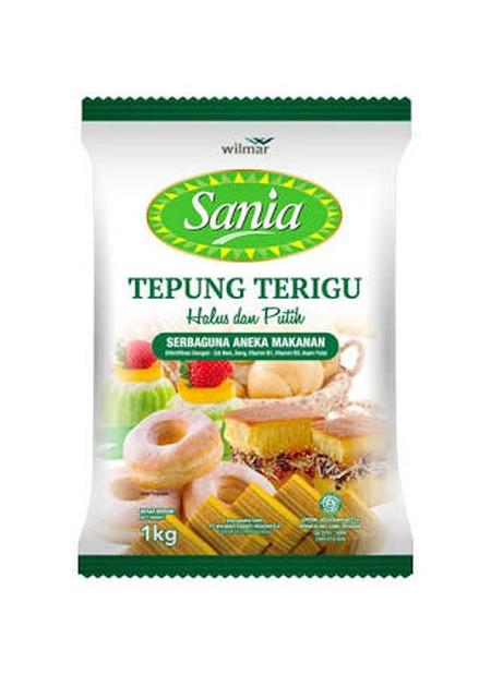 Sania Tepung Terigu [1 kg] adalah tepung terigu serbaguna premium yang dapat digunakan untuk membuat kue atau makanan lainnya. Tepung yang dikemas secara higienis dari gandum pilihan ini mampu menghasilkan tepung terigu dengan protein sedang yang cocok un