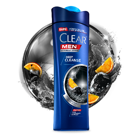 Polusi, kotoran dan minyak bisa terjebak di kulit kepalamu, yang dapat menyebabkan ketombe.   Diformulasikan khusus untuk pria, CLEAR Men Deep Cleanse Dengan Karbon Aktif dan Citrus Peel, membersihkan pori-pori rambut^ secara mendalam, menghilangkan minya