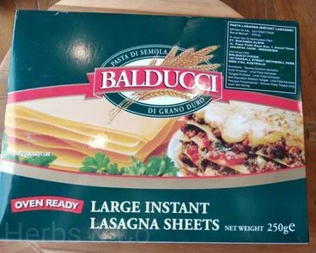 Balducci Large Instant Lasagna Sheets Is Made From High Quality Durum Wheat Balducci Pasta Is Great For Customers Seeking A Value For Money Option. Balducci Is Made In Australia And Is Available In A Range Of Traditional Italian Shapes, Both Long And Shor