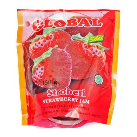 Deskripsi Global Strawberry Jam 150Gr. Selai Strawberry. Terbuat Dari Buah Asli Segar, Dapat Digunakan Untuk Berbagai Macam Makanan Dan Minuman, Tersimpan Dalam Kemasan Pouch, Tersimpan Juga Dalam Kemasan Portion Yang Praktis Dan Mudah Untuk Dibawa Saat B