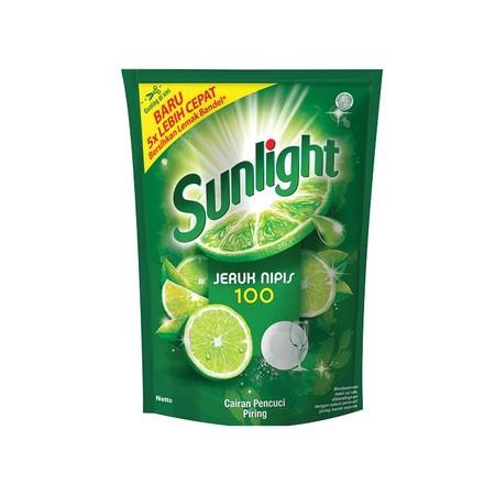 Sunlight Lime Pouch Refill merupakan cairan pencuci piring dari Sunlight yang diformulasi khusus untuk membersihkan lemak membandel pada piring. Dengan wangi yang segar untuk piring-piring bersih anda.