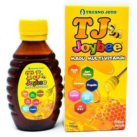 TJ Joybee adalah kombinasi madu dan multivitamin pertama di Indonesia. Dengan perpaduan herbal alami seperti : Curcuma, Madu, Propolis, Sari Kurma dan Multivitamin : Vitamin B kompleks, vitamin C, Lysine, EPA, DHA, memberikan manfaat lengkap untuk pertumb