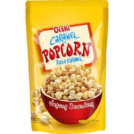 Ramaikan waktu santai Anda dengan Oishi Popcorn Caramel. Camilan popcorn persembahan Oishi ini terbuat dari jagung pilihan yang diolah bersama krim karamel yang lezat. Ideal dinikmati saat menonton film, mengobrol bersama sahabat, ataupun sebagai teman pe