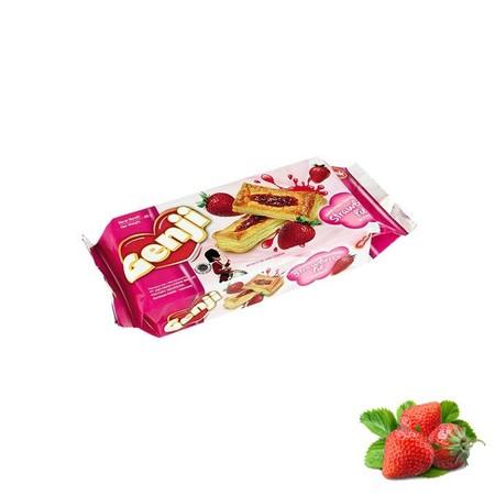 Biskuit Monde Genji Strawberry Pie adalah biskuit renyah yang dibuat dengan cara dipanggang. Biskuit ini juga terasa lebih mantap jika dinikmati bersama kopi, teh, atau susu kesukaan Anda di pagi atau sore hari.