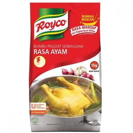 Royco Kaldu Ayam dibuat dengan daging ayam yang direbus lama memberikan kaldu mantap dan rasa ayam lezat untuk semua masakan
