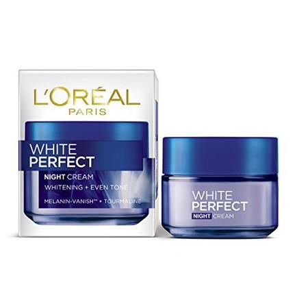 LOreal Paris White Perfect Night Cream merupakan krim malam dengan kandungan Melanin Vanish yang membantu menyamarkan bintik hitam dan mencerahkan kulit sehingga terlihat lebih bersih dan segar serta Tourmaline Gemstone di dalamnya dapat membantu kulit t