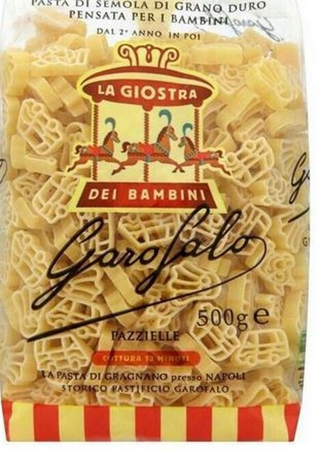 Pazzielle is the Neapolitan word for toys. Garofalo has been making pasta for over 300 years in Gragnano near Naples in Italy, the home of pasta. Made from 100% robust desert durum wheat and shaped using a bronze die gives Garofalo pasta its premium taste