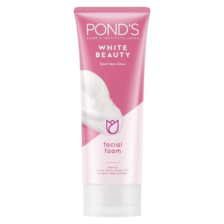 PondS White Beauty Spot-Less Rosy White Daily Facial Foam Teruji Klinis Menyamarkan Noda Hitam.