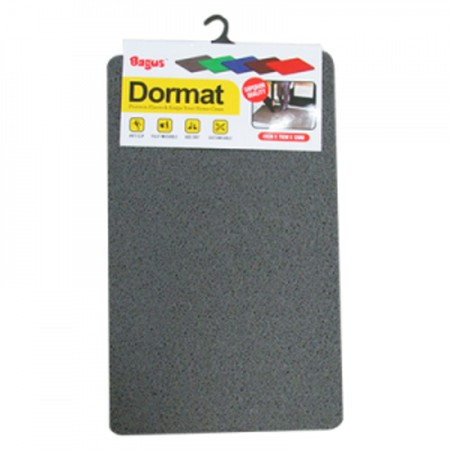Bagus Dormat (45 x 75 cm) [W-16025] With synthetic material with soft and thick texture. Anti-slip mat and easy to clean from dust and other dirt, has 3 color variants. Easy to clean, just turn the mat over and spray with clean water. Suitable for inside and outside of your home and office.  Designed thick, soft, and anti-slip  Very easy to clean  Suitable to be placed inside or outside the room