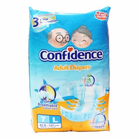 Confidence Adult Diaper Premium Is Adult Diaper With Adhesive For Eldery Who Sick Or Bedridden. The First Adult Diaper With 4 New Inovasion: 1. Clothlike Fiber: The Surface Is Clothlike Fiber Makes Your Parent Comfortable, Free Moisturizer, And Avoid From