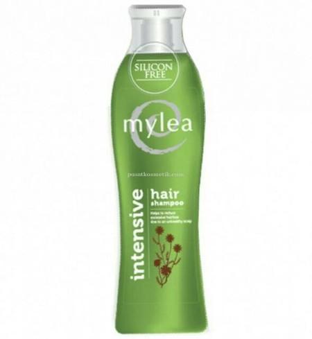Mylea Intensive Hair Shampoo merupakan shampoo dengan formula khusus. Silicon Free yang mengandung ekstrak bunga Chamomile dan Horsetail. Silicon Free membersihkan rambut tanpa meninggalkan penumpukan pada rambut, maka nutrisi ekstrak bunga chamomile dan