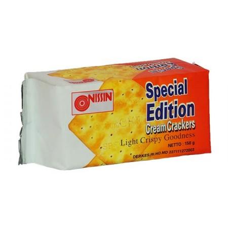 biskuit crackers tipis yang renyah dan mempunyai rasa asin gurih. Light cripspy goodness