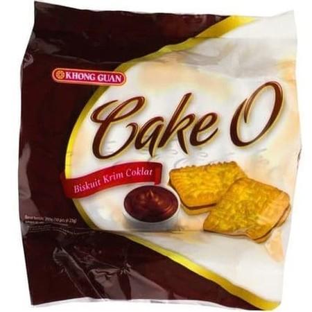 Cake - O Choco Merupakan Biskuit Dengan Krim Cokelat Yang Sangat Tebal.