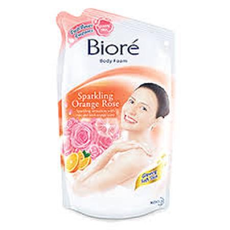 Sparkling Glowing Soft Skin! Kembalikan semangat dan kilau kulit lembutmu dengan Biore Sparkling Orange Rose. Dengan rosy and fresh orange sensation, bikin kulitmu glowing dan berasa sparkling.
