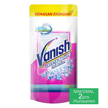 Vanish Crystal White Powder works to remove stains and keep your whites as white as possible. The special formula contains Oxi Powerlift agents which penetrate and lift the stain first time, and also whitening ingredients to help retain a brilliant whiten