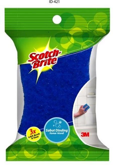 Scotch Brite spons cuci piring id-421 -Kuat, tahan lama, spons tidak mudah hancur -Tidak menggores dinding & permukaan kamar mandi -Efektif membersihkan noda membandel wastafel, kaca shower, dan perlengkapan kamar mandi lainnya -Tahan lebih lama