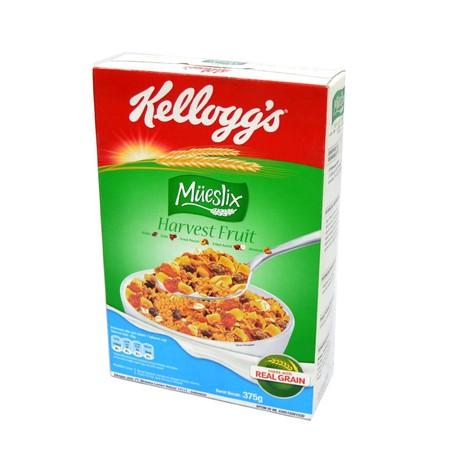 Kellogg'S Mueslix Harvest Fruit Cereal 375 G Merupakan Sereal Yang Mengandung Sumber Vitamin B Dan Zat Besi, Tidak Memiliki Kolesterol Untuk Menjaga Keseimbangan Sempurna Dari Bahan-Bahan Yang Sehat Dan Memiliki Rasa Yang Nikmat. Ideal Dikonsumsi Sehari-H