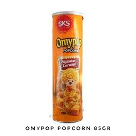 popcorn jagung dalam toples varian rasa signature caramel