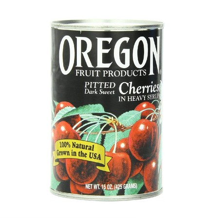 OREGON PITTED DARK SWEET CHERRIES Kemasan kaleng isi 425gr a sweet, tangy fruit with plenty of natural nutrients. Hand selected and all-natural, they are picked ripe for improved quality. They can be eaten straight from the can, or used in pies and other