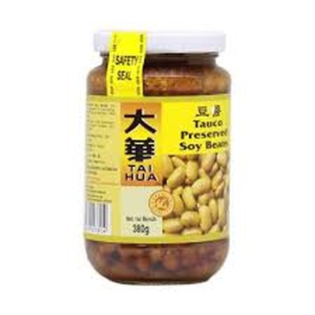 Tai Hua Perserved Soy Beans Are Excellent As An Ingredient For Marinating, Steaming And Stir Frying Of All Kinds Of Seafood, Meat And Vegetables. Ingredients: Soya Beans, Wheat Flour, Salt, Sugar, Sodium Benzoate