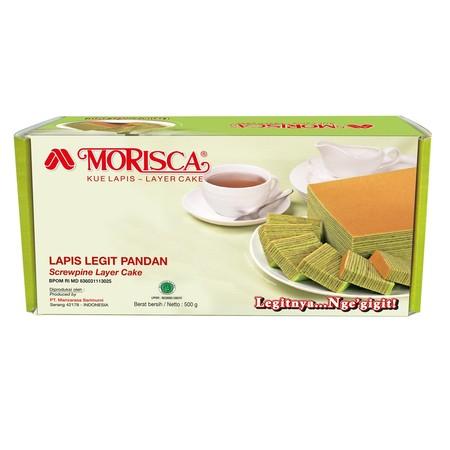 Morisca adalah produk kue lapis legit yang di buat secara higienis serta aman di konsumsi dengan kemasan vakum plastik berbahan nilon serta terjaga kualitas nya dengan rasa pandan.