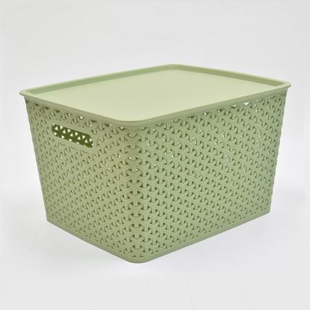 Dimensi 35,8 x 30 x 13,5 cm Kapasitas 11.3 lt Warna hijau