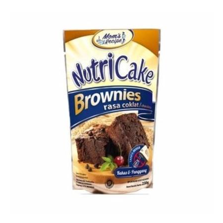 Premiks brownies coklat, untuk membuat Brownies Coklat dengan menggunakan Nutricake Brownies Coklat, bisa dikukus atau dipanggang, pengadukan tanpa menggunakan mixer, membuat brownies menjadi pengalaman yang menyenangkan.