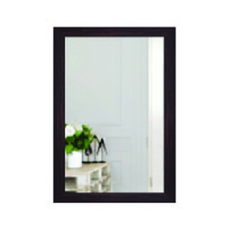Castelli Mirror  Made of PVC Plastic with wood brown color