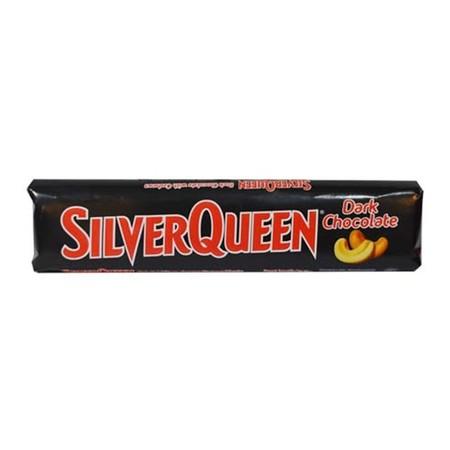 Silverqueen Cashew Dark Chocolate adalah salah satu varian coklat Silvequeen Classic. Kelezatan Silverqueen chocolate ini dihasilkan dari perpaduan yang pas antara coklat hitam, susu, dan kacang almond di dalamnya. Perpaduannya yang tepat menghasilkan pen