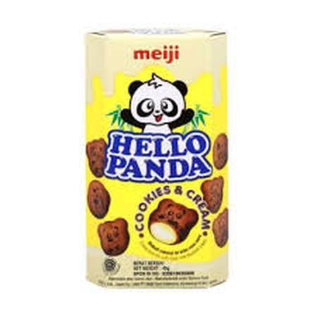 HELLO PANDA Big Box. HELLO PANDA adalah biskuit coklat lezat yang dapat Anda nikmati kapan dan dimana saja. Snack ini memiliki tekstur yang lebih renyah dan nikmat. Ditambah dengan coklat nikmat di dalamnya yang akan semakin menambah rasa lezat pada snack