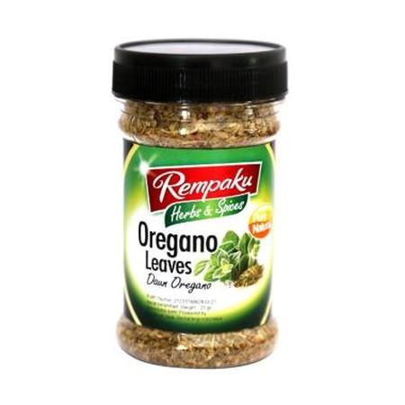 Komposisi: Daun oregano kering. Detail: Oregano adalah tanaman yang masih satu saudara dengan daun mint. Namun oregano memiliki rasa yang sedikit pahit dan memiliki rasa hangat ketika dimakan. Warna daun dari oregano yang hijau segar sekilas mirip dengan