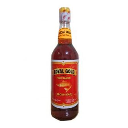 Royal Gold Fish Sauce 725ml adalah kecap ikan dengan aroma yang tidak amis dan rasa yang nikmat cocok untuk digunakan untuk menyedapkan masakan anda