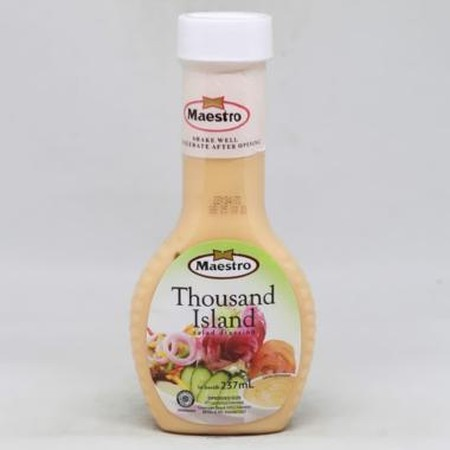 Maestro Thousand Island Is A Blend Of Mayonnaise And Sweet Pickled Relish. Maestro Thousand Island Is A Perfect Match For Your Sandwiches And Salads.