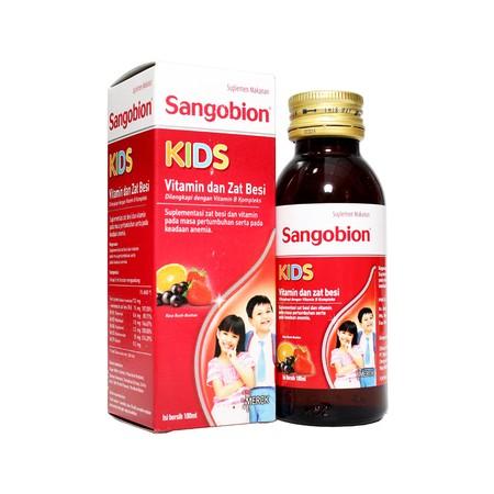 SANGOBION KIDS SYR 100ML adalah suplementasi zat besi dan vitamin pada masa pertumbuhan serta pada keadaan anemia untuk anak usia 2-12 tahun. Rasanya disukai anak-anak dan minim bau besi (tuti fruti). Produk ini dapat diserap tubuh dengan baik, minim inte