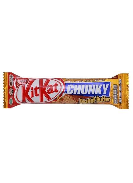 KitKat Chunky Peanut Butter - Wafer dalam balutan cokelat susu dan peanut butter, ukuran wafer lebih besar terbungkus dengan lapisan coklat tebal, Ada break, ada kit kat.