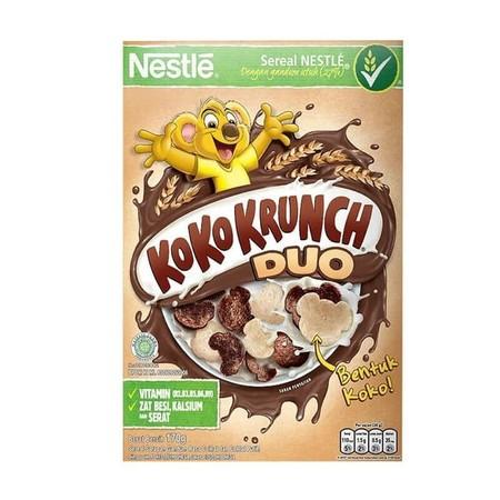 Koko Krunch Duo Cereal Nestle [170 G]. Lengkapi Kebutuhan Gizi Anda Dengan Nestle Koko Krunch. Mungkin Bagi Anda Yang Sering Sekali Melewatkan Sarapan Pagi, Kini Nestle Mempersembahkan Koko Krunch Sebagai Penganti Sarapan Yang Praktis Dan Bergizi. Apalagi