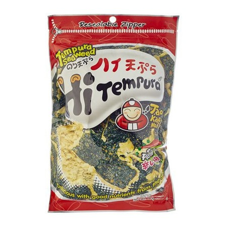 snack rumput laut rasa tempura pedas