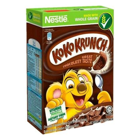 Kini Sekarang Saatnya Awali Sarapan Pagi Anda Dengan Nestle Koko Krunch Sereal, Yang Kaya Nutrisi Untuk Kesehatan Tubuh Anda. Pasalnya, Nestle Koko Krunch Mengandung Gandum Utuh Dan Dilengkapinya Vitamin, Zat Besi, Kalsium Dan Serta Yang Mencukupi Nutrisi