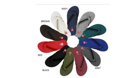 Slipper Ando adalah Alas kaki Pria berbahan karet yang lentur dan nyaman untuk keperluan sehari hari dengan warna menarik, size 38-42