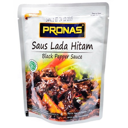 Pronas Stir Fry Sauce Black Pepper Suitable To Cook Various Kind Of Dish.  Ingredients:  Water, Soy Sauce (Contain Of Preservative Sodium Benzoate), Oyster Sauce (Contain Of Flavour Disodium Inosinate And Guanylate, Caramel Color, Preservative Potassium S