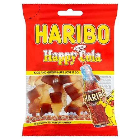 Haribo Hb-Happy Cola 80Gr Haribo Hb-Happy Cola 80GrMerupakan Permen Jelly Dengan Rasa Cola Yang Dibuat Dengan Bahan-Bahan Yang Berkualitas Sehingga Menghasilkan Tekstur Yang Kenyal, Diproses Secara Higienis. Cocok Dinikmati Saat Bersantai Bersama Kelua