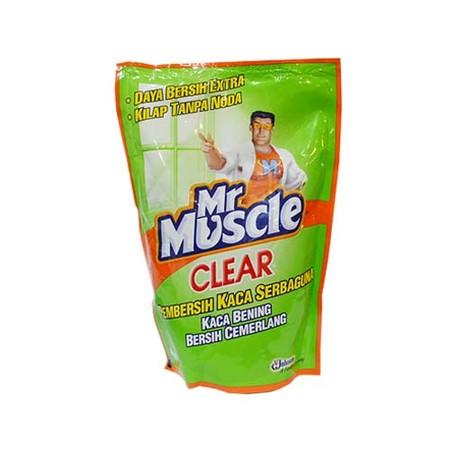 Mr. Muscle Clear Glass Liquid Apple Pouch Pembersih Kaca 440 Ml. Dengan Mr Muscle Clear Glass, Noda Dan Debu Hilang Dalam Sekejaphunian Yang Bersih Dan Rapi Merupakan Hal Yang Diidam-Idamkan Setiap Orang. Karena Rumah Yang Bersih Dan Rapi Akan Sangat Nyam